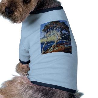 Árboles de Lobos del punto de Rose del individuo Camisetas De Mascota