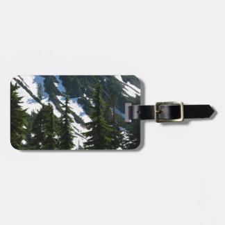Árboles de los prados del brezo etiquetas para maletas