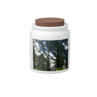 Árboles de los prados del brezo plato para caramelo