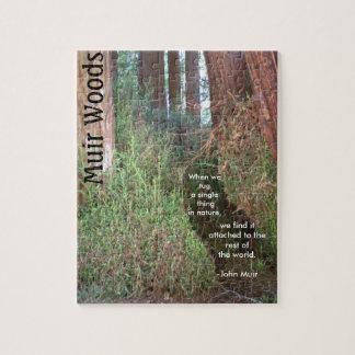 Árboles de maderas de Muir con cita Puzzle