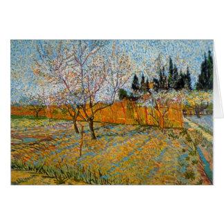 Árboles de melocotón de Vincent van Gogh Tarjetón