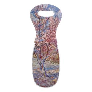 Árboles de melocotón florecientes de Van Gogh el | Bolsas Para Botella De Vino