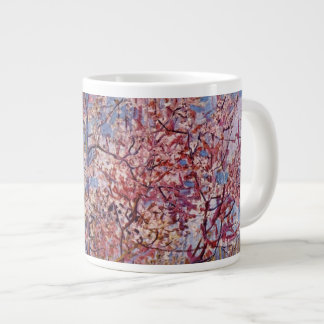 Árboles de melocotón florecientes de Van Gogh el   Taza Grande
