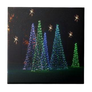Árboles de navidad 2016 azulejo cuadrado pequeño