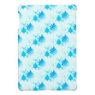 Árboles de navidad azules iPad mini protector