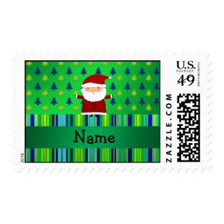 Árboles de navidad azulverdes conocidos sellos