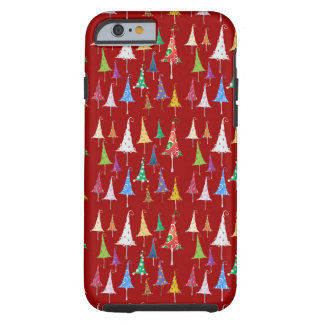 Árboles de navidad banales funda de iPhone 6 tough