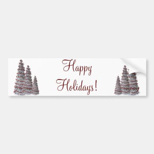 Árboles de navidad bonitos de la plata buenas fies pegatina de parachoque