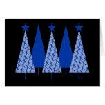 Árboles de navidad - cáncer de colon de Blue Ribbo Felicitaciones