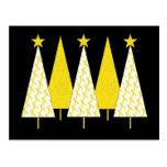 Árboles de navidad - cinta amarilla tarjetas postales