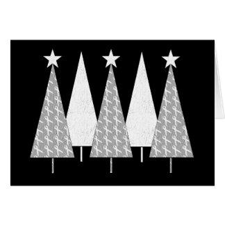 Árboles de navidad - cinta blanca tarjeta de felicitación