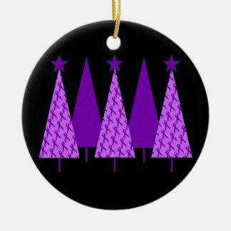 Árboles de navidad - cinta violeta adorno de navidad