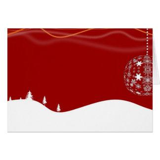 Árboles de navidad con el ornamento tarjeta de felicitación