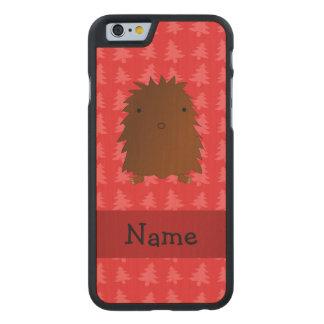 Árboles de navidad conocidos personalizados del funda de iPhone 6 carved® de arce