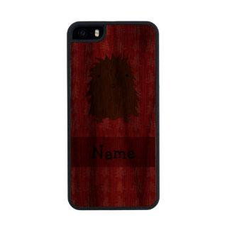 Árboles de navidad conocidos personalizados del funda de nogal carved® para iPhone 5 slim