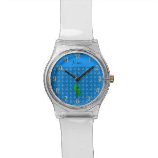 Árboles de navidad conocidos personalizados del relojes de pulsera