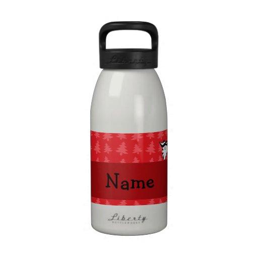 Árboles de navidad conocidos personalizados del ro botella de beber