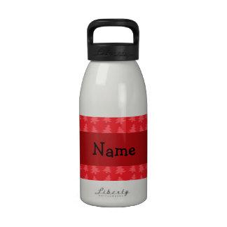 Árboles de navidad conocidos personalizados del ro botella de agua