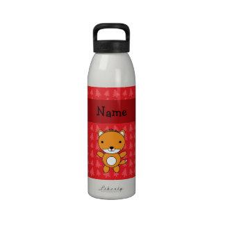 Árboles de navidad conocidos personalizados del ro botellas de beber