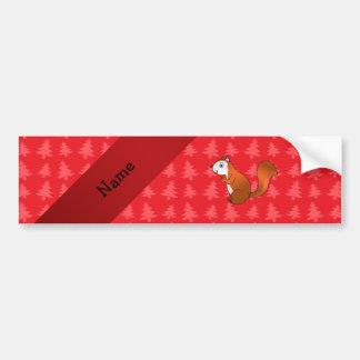 Árboles de navidad conocidos personalizados del ro etiqueta de parachoque