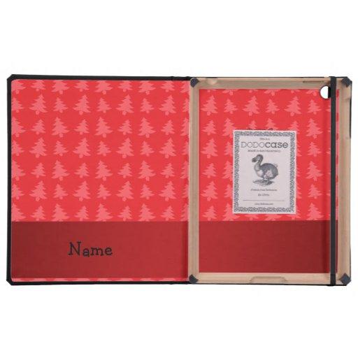 Árboles de navidad conocidos personalizados del ro iPad funda