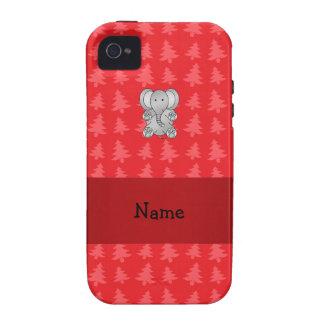 Árboles de navidad conocidos personalizados del ro Case-Mate iPhone 4 funda
