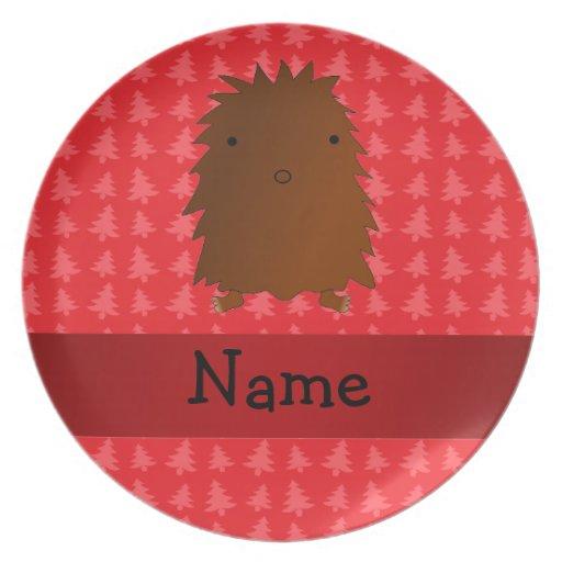 Árboles de navidad conocidos personalizados del ro plato de comida