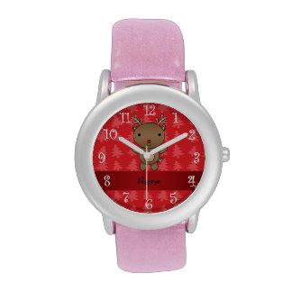 Árboles de navidad conocidos personalizados del ro relojes de mano