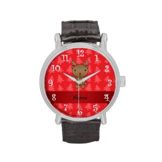 Árboles de navidad conocidos personalizados del ro relojes de pulsera