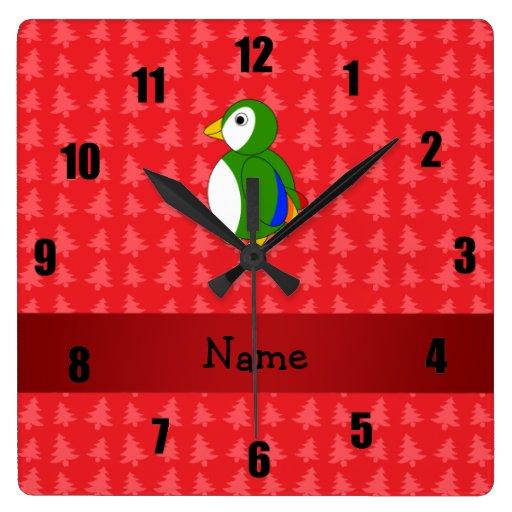 Árboles de navidad conocidos personalizados del ro reloj cuadrado