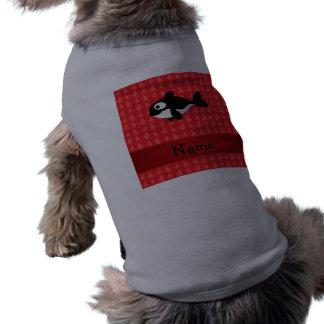 Árboles de navidad conocidos personalizados del ro playera sin mangas para perro
