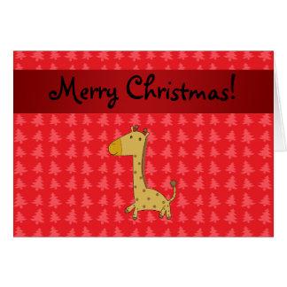 Árboles de navidad conocidos personalizados del ro tarjeta de felicitación