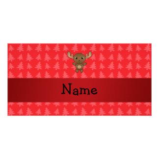 Árboles de navidad conocidos personalizados del ro tarjeta fotografica personalizada