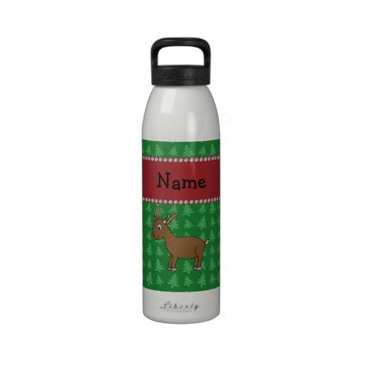 Árboles de navidad conocidos personalizados del ve botella de beber