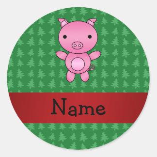 Árboles de navidad conocidos personalizados del ve etiquetas