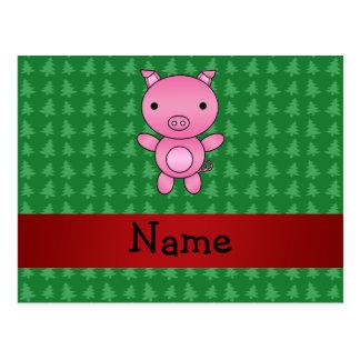 Árboles de navidad conocidos personalizados del ve tarjeta postal