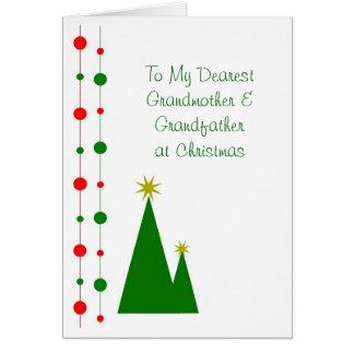 Árboles de navidad de la tarjeta de Navidad de los