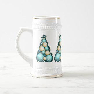 Árboles de navidad de las burbujas de la turquesa  taza de café