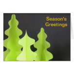 Árboles de navidad de papel de la escultura tarjetas