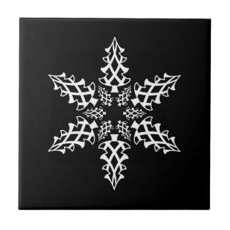 Árboles de navidad del copo de nieve de la ilusión azulejo cuadrado pequeño