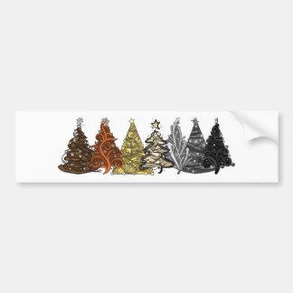 Árboles de navidad del oso pegatina para auto