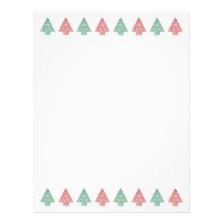 Árboles de navidad en una línea - papel membretes personalizados