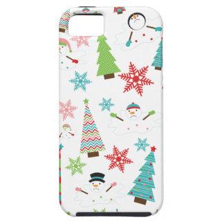 Árboles de navidad enrrollados de fusión lindos funda para iPhone SE/5/5s