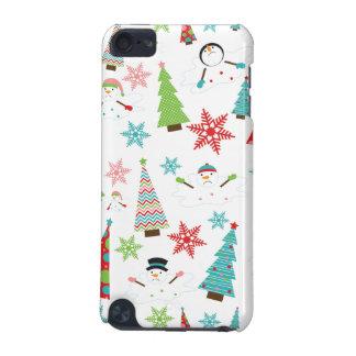 Árboles de navidad enrrollados de fusión lindos funda para iPod touch 5