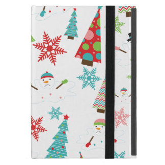 Árboles de navidad enrrollados de fusión lindos iPad mini fundas