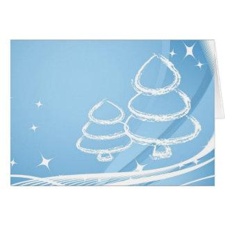 Árboles de navidad escarchados tarjeta de felicitación