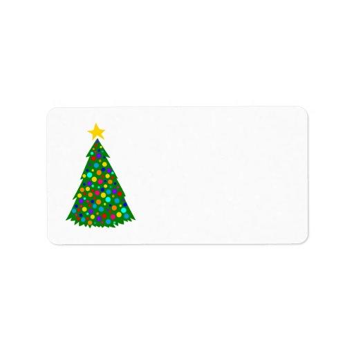 Árboles de navidad etiquetas de dirección