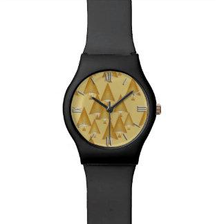 Árboles de navidad metálicos modernos - oro relojes