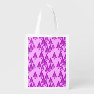 Árboles de navidad metálicos modernos - violeta bolsa de la compra