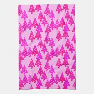Árboles de navidad modernos de la flor - rosa del toalla